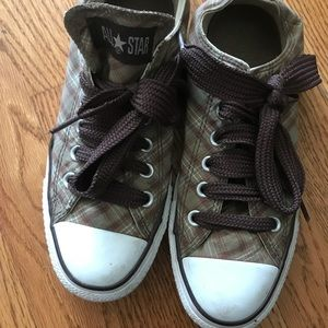 Plaid Converse Shoes